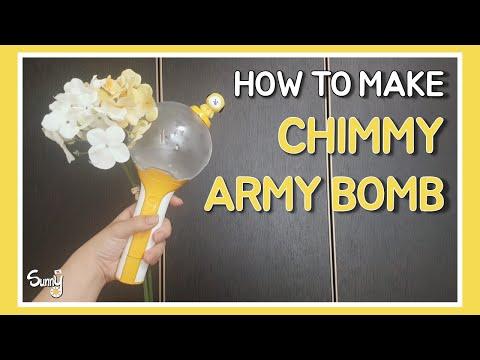 Chimmy ARMY Bomb decoration!💛   치미 아미밤 커스텀!