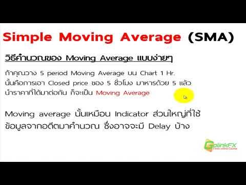 สอนเทรด Forex ฟรี -  วิธีใช้  Simple moving average(SMA) | LINE : @GOLINKFX