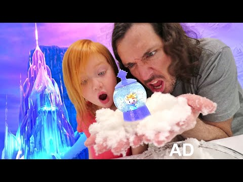 FROZEN 2 how to make SNOW!! Adley finds hidden Disney Princess Elsa, Anna, and Olaf in her new toys!