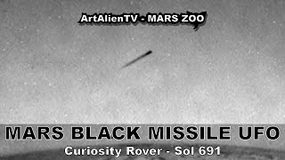 MARS BLACK MISSILE or Saucer UFO - Sol 691.(Into the Mausoleum) ArtAlienTV