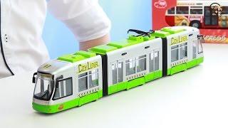 Открываем игрушки машинки. Городской трамвай с гармошкой. МанкиИгрушки