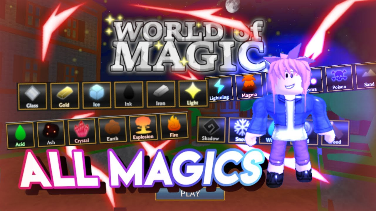(Level 1 - Level 60) All Magics' Showcase | Roblox World Of Magic