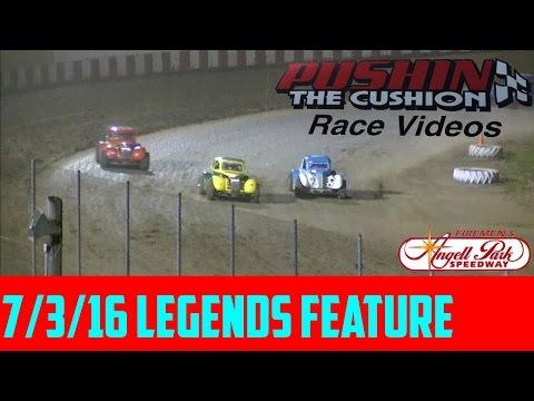 Angell Park Speedway 7/3/16 Legends Feature
