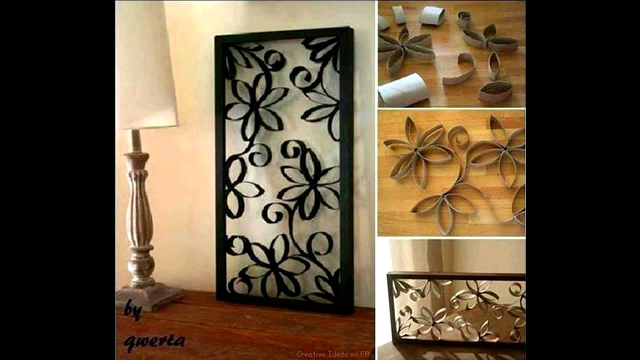 30 homemade toilet paper roll art ideas for your wall for Wall decoration ideas with photos