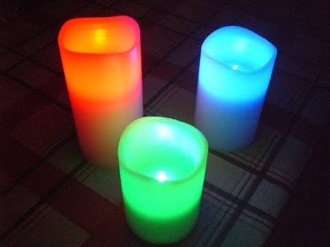 Unboxing And Review Of LED Colour Changing Candles