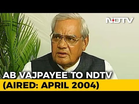 'Never Thought I Would Be A Politician, Always Wanted To Be A Poet': Vajpayee (Aired: April 2004)