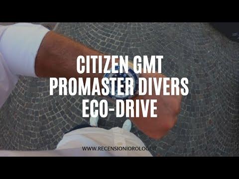 Citizen GMT Promaster Divers Eco-Drive SuperTitanio