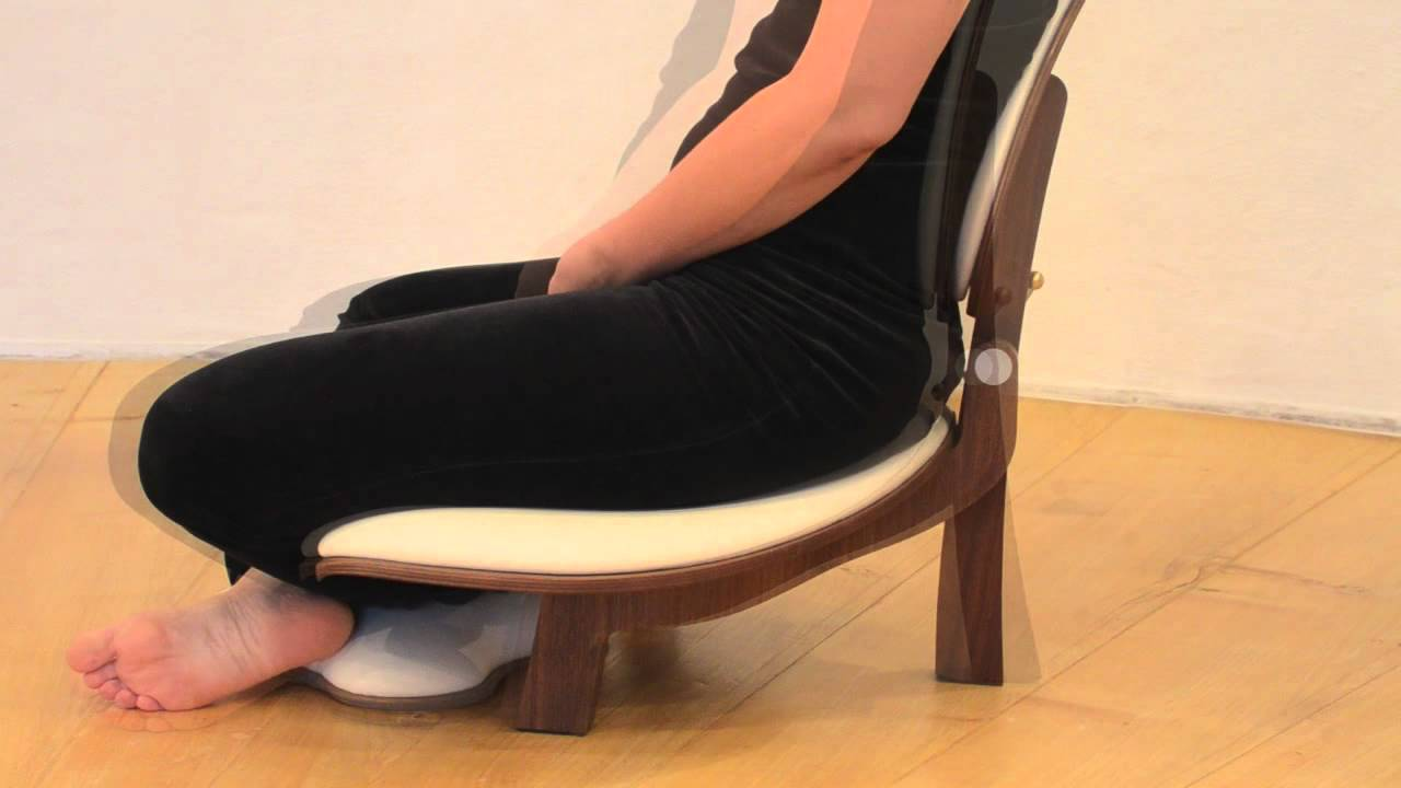 basho meditation chair | how to use chair and backrest - youtube