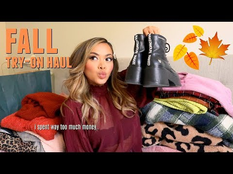 huge fall clothing try-on haul 2019!