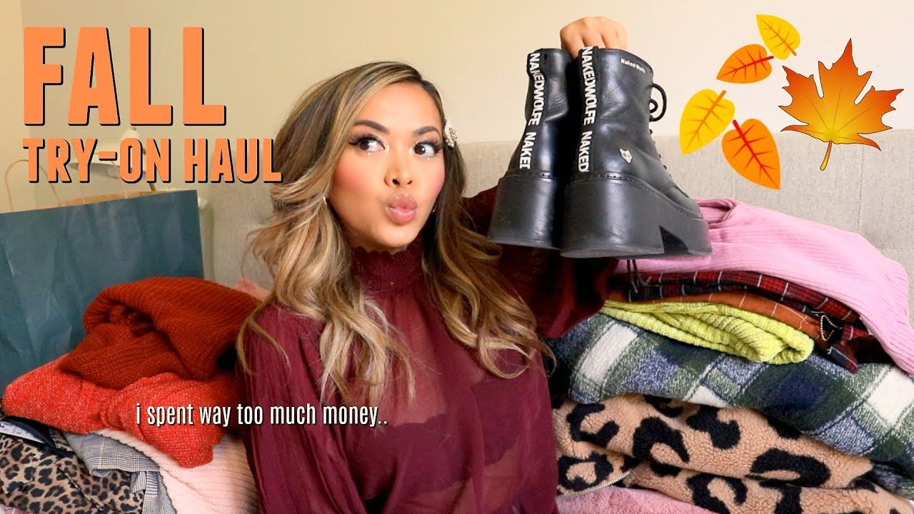 [VIDEO] - huge fall clothing try-on haul 2019! 2