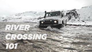 How to cross a riטer in Iceland.