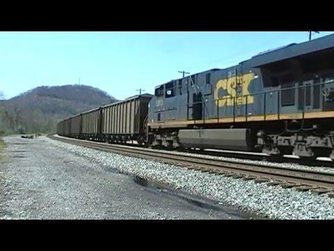 CSX Coal Train At Chelyan, West Virginia