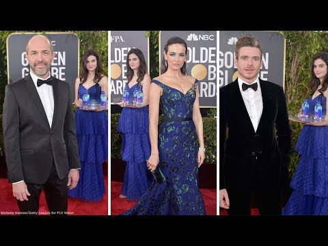 'FIJI water girl' steals the show at Golden Globes red carpet