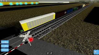UP Manifest meets with an Amtrak Passenger Train! | Roblox Railfanning!