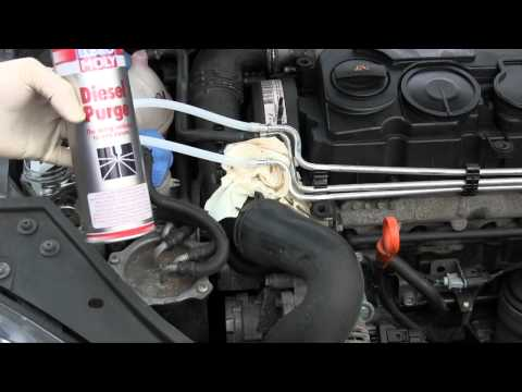 How to use diesel purge VW TDI engine (Audi TDI similar)