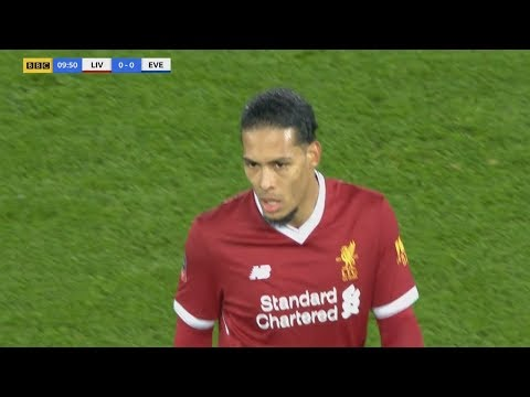 Van Dijk His First Game For Liverpool! Debut against Everton (05/01/2018)