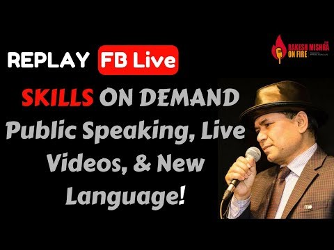 Mastering Three skills Public Speaking, New Language, and Video production.