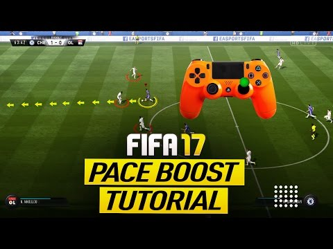 FIFA 17 PACE BOOST TUTORIAL - HOW TO SPRINT ULTRA FAST - BEST SPEED BOOST GLITCH EVER