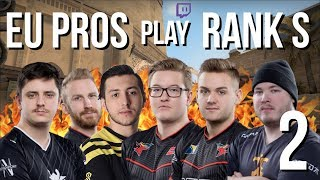 CSGO - When EU Pro Players play NA ESEA Rank S #2 (FUNNY MOMENTS & SICK FRAGS)
