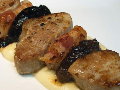 Brocheta de solomillo con bacon y ciruelas youtube - Solomillo de ternera al horno con mostaza ...
