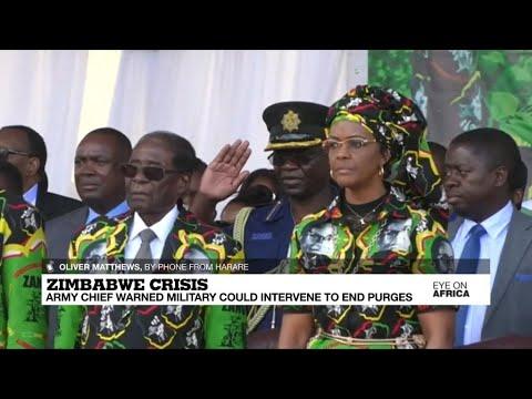 Zimbabwe's army chief warns military could intervene to end Zanu-PF purges