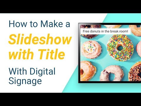 How to display a Slideshow with Title on any TV or display