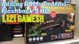 Adding ROMs To AtGames Atari Flashback 9 HD, 1,121 GAMES! - Emceemur