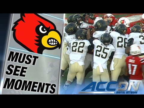 Louisville RB Brandon Radcliff Carries Pile Rugby-Style for 15 Yards | ACC Must See Moment