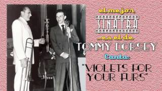 Frank Sinatra con Tommy Dorsey canta VIOLETS FOR YOUR FURS