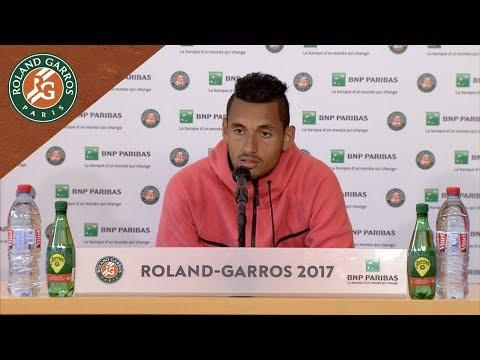 Nick Kyrgios - Press Conference after Round 1 2017 | Roland-Garros