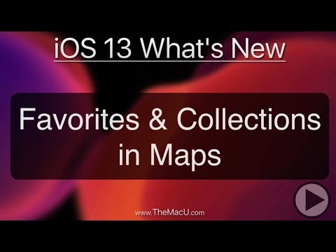 iOS 13 Tutorial: How to use the new favorites and collections in Apple Maps! thumbnail