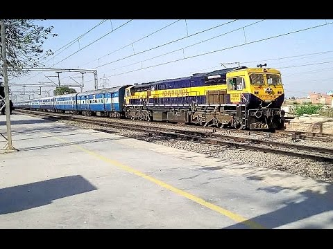 Heavy Rail Traffic : Speeding Trains on New Delhi - Mathura Route Morning to Evening