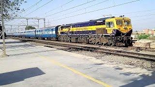 Heavy Rail Traffic : Speeding Trains on New Delhi - Mathura Route Morning to Evening