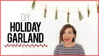 DIY Holiday Garland with Rosemary! // #DIYDecember Day 3