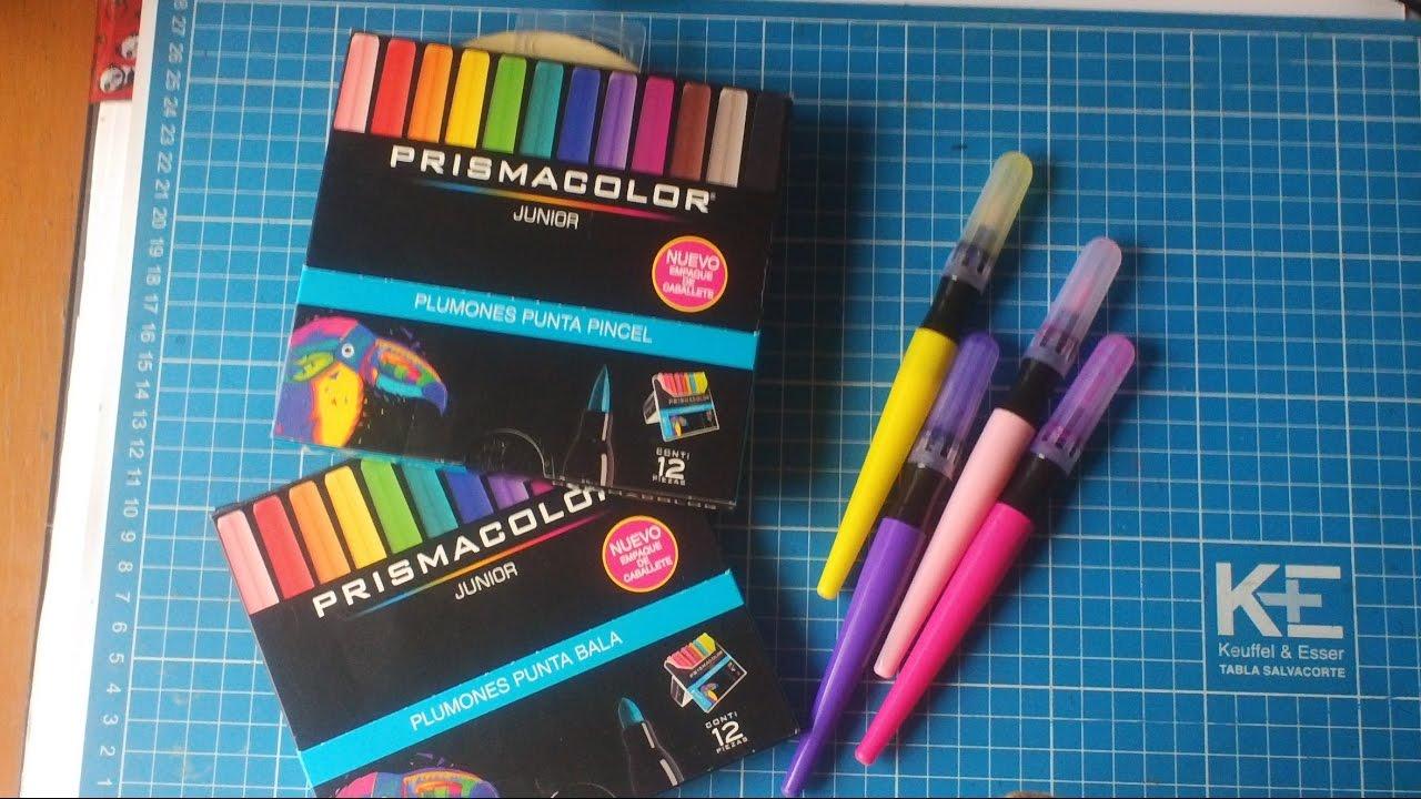 Plumones o marcadores Prismacolor junior punta pincel y bala así ...