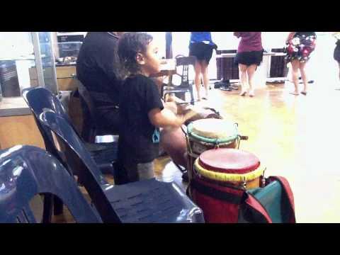 Soifua Village Polynesia 5DEC11 Drumming Practice