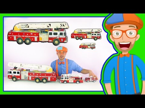 Thumbnail: Learn Sizes with Fire Trucks | Blippi Toys Smallest to Biggest!