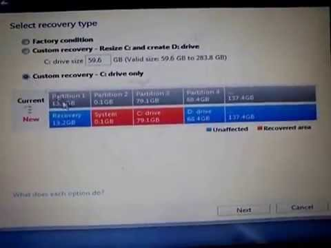 how to reformat sony vaio laptop to factory settings