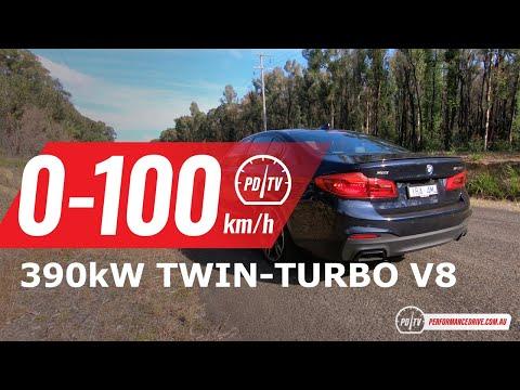 2020 BMW M550i xDrive 0-100km/h & engine sound