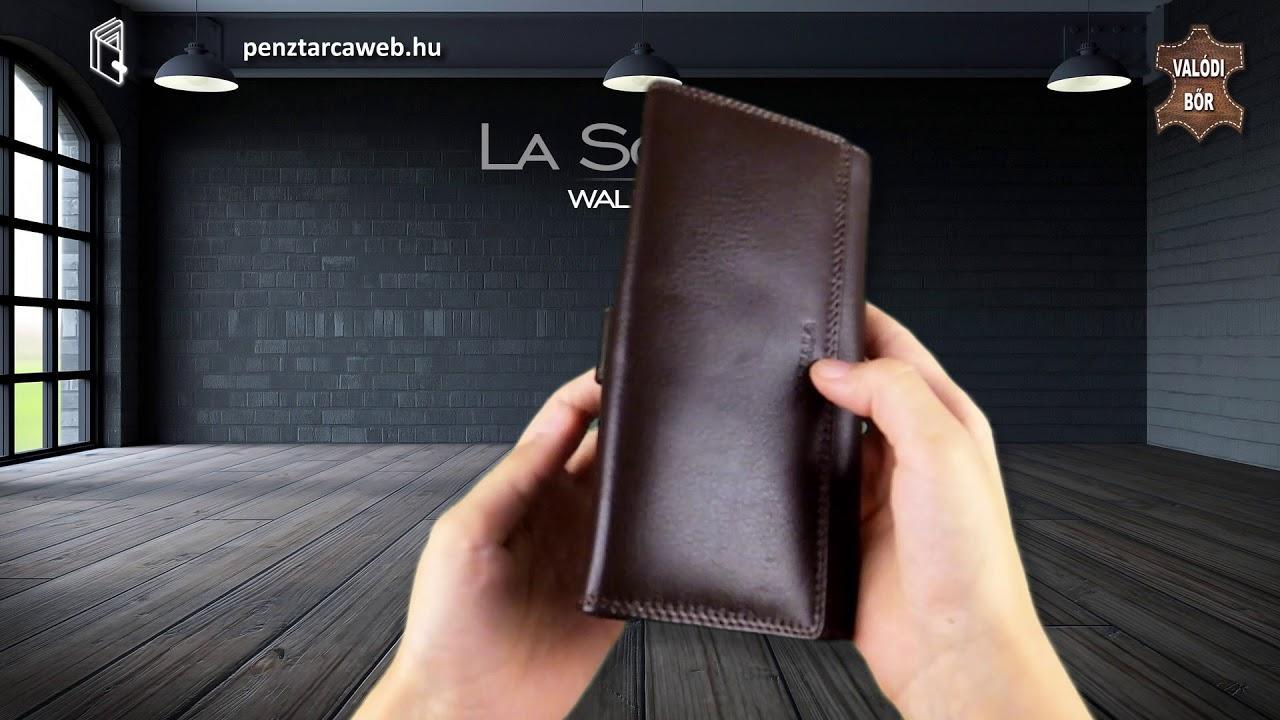 La Scala női brifkó pénztárca barna DN155 - YouTube 508c03928d