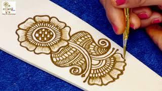 Rakhi Special Mehndi Design for Hands | Easy Floral Mehndi Design For Hands by Sonia Goyal #018