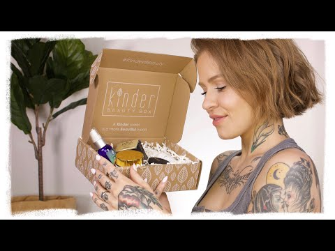 VEGAN & CRUELTY FREE UNBOXING | kinder beauty box thumbnail