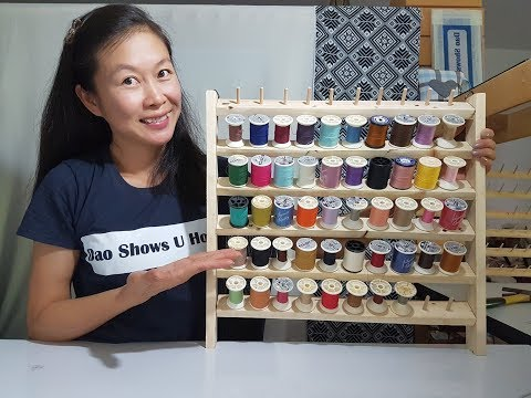 How to Make a Bobbin Rack to Organize Your Thread