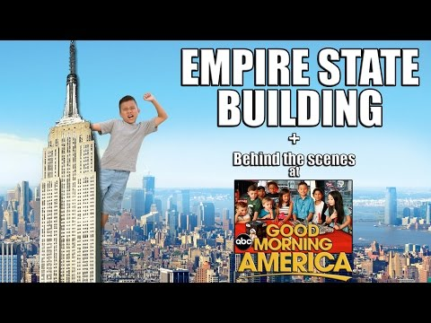 Conquering the EMPIRE STATE BUILDING! Behind the Scenes at Good Morning America