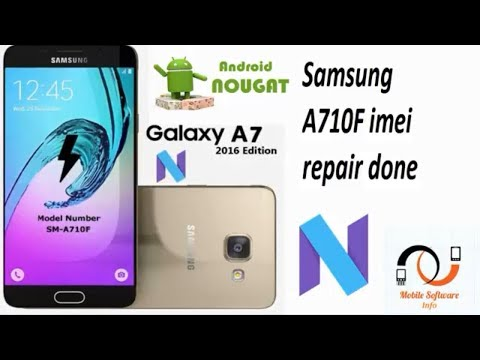 Samsung A710f imei repair done with z3x pro  by mobile