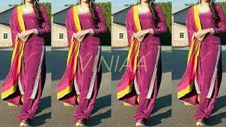 Plain Punjabi Suit Design | Plain Suit with Heavy Dupatta | Plain Suit Colour Combination