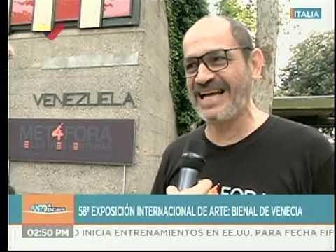 Viceministro Oscar Sotillo desde el pabellón de Venezuela en la Bienal de Venecia