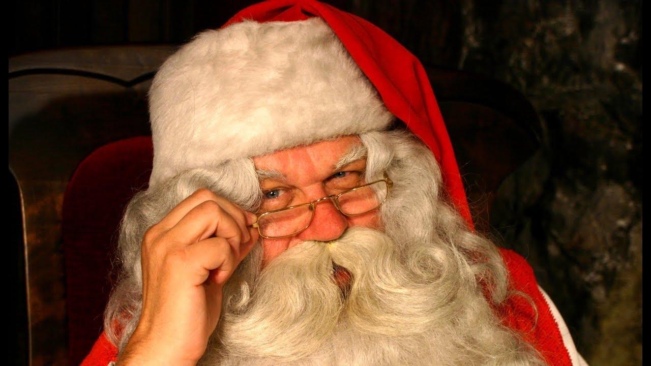 Papai Noel Saudação Vídeo Pai Natal Lapónia Na Finlândia Rovaniemi Santa Claus Mensagem