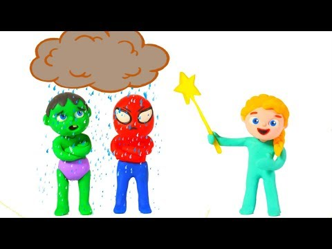 LITTLE PRINCESS & THE RAINY CLOUD 鉂� SUPERHERO PLAY DOH CARTOONS FOR KIDS