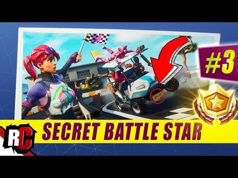 Secret Battle Star Location WEEK  SEASON  | Fortnite (Road Trip Challenge / Loading Screen WEEK )